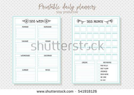 Daily Planner 2016 - Download Free Vector Art, Stock Graphics & Images