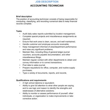 Job Description Sample Template. 5 simple steps to writing a ...