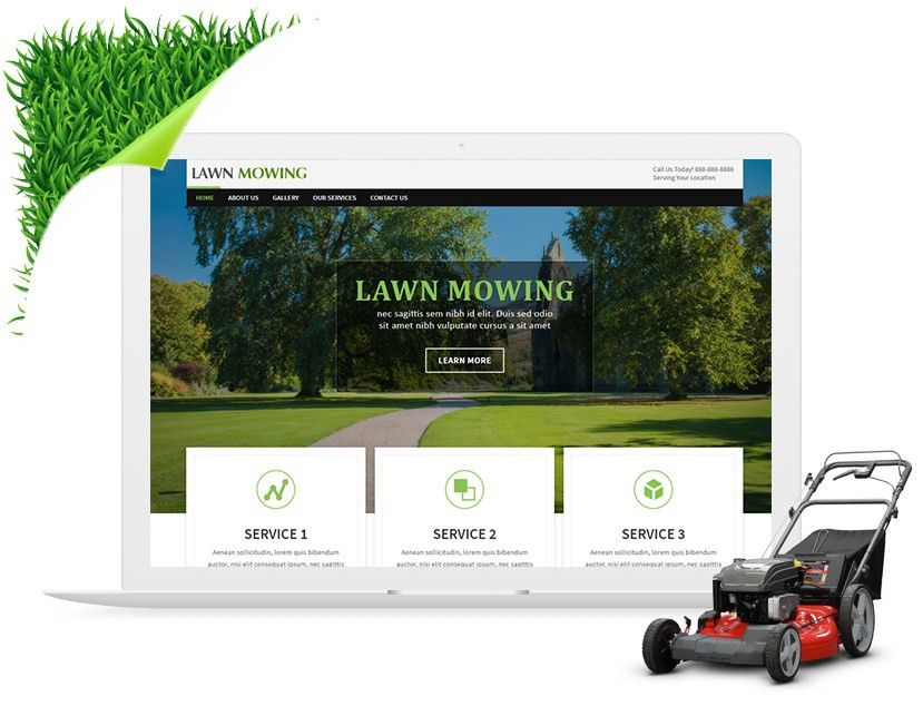 Free Lawn Mowing Website Templates & ThemesThemes.PSDCenter.com