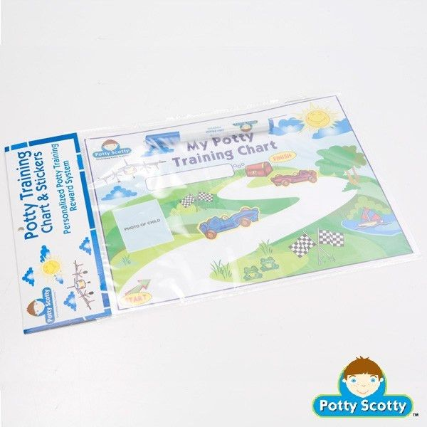 Potty Training Chart & Stickers for Boys | Potty Scotty