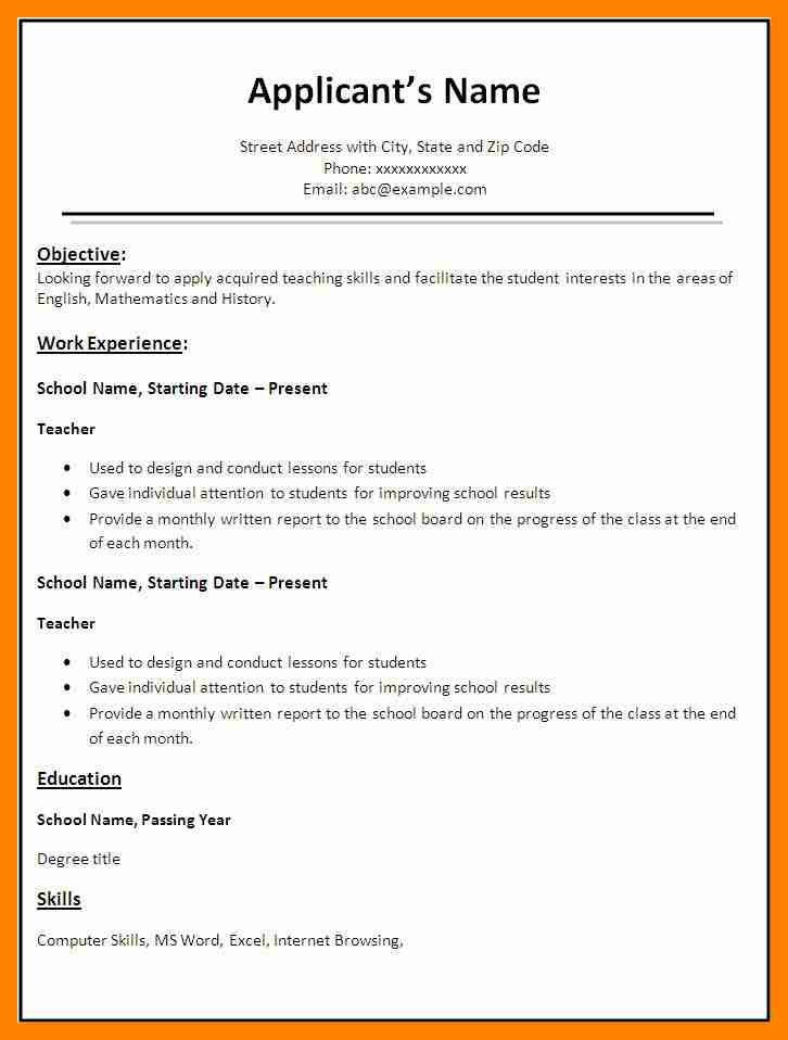resume format word file resume demo word file resume format word