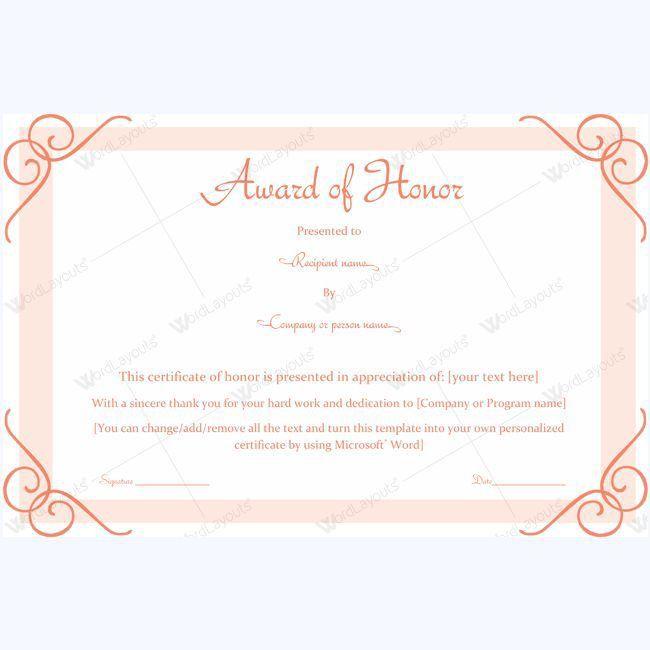 Years Of Service Award Templates #award #awardcertificate ...