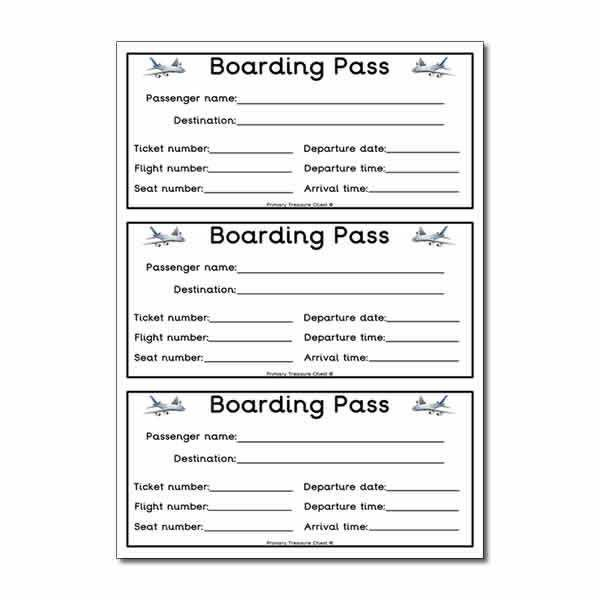 Flight boarding pass worksheet. | Classroom decoration | Pinterest ...