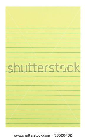 Notebook Paper Background Yellow Lined Paper Stock Vector ...