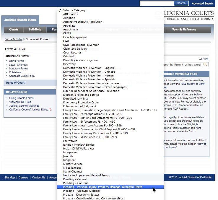 Judicial Council Form Complaint | Resumesample.csat.co