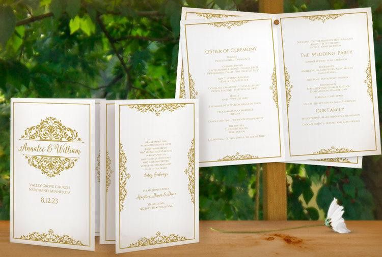 SALE! DiY Printable Wedding Program Template - Instant Download ...