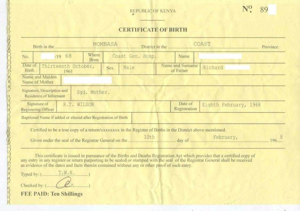 Fake Birth Certificate Template Free Download | Certificate234