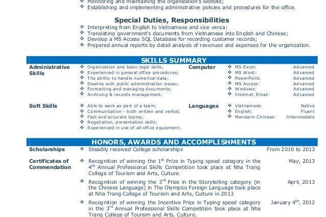 Cv resume sample for fresh graduate of office administration CV ...