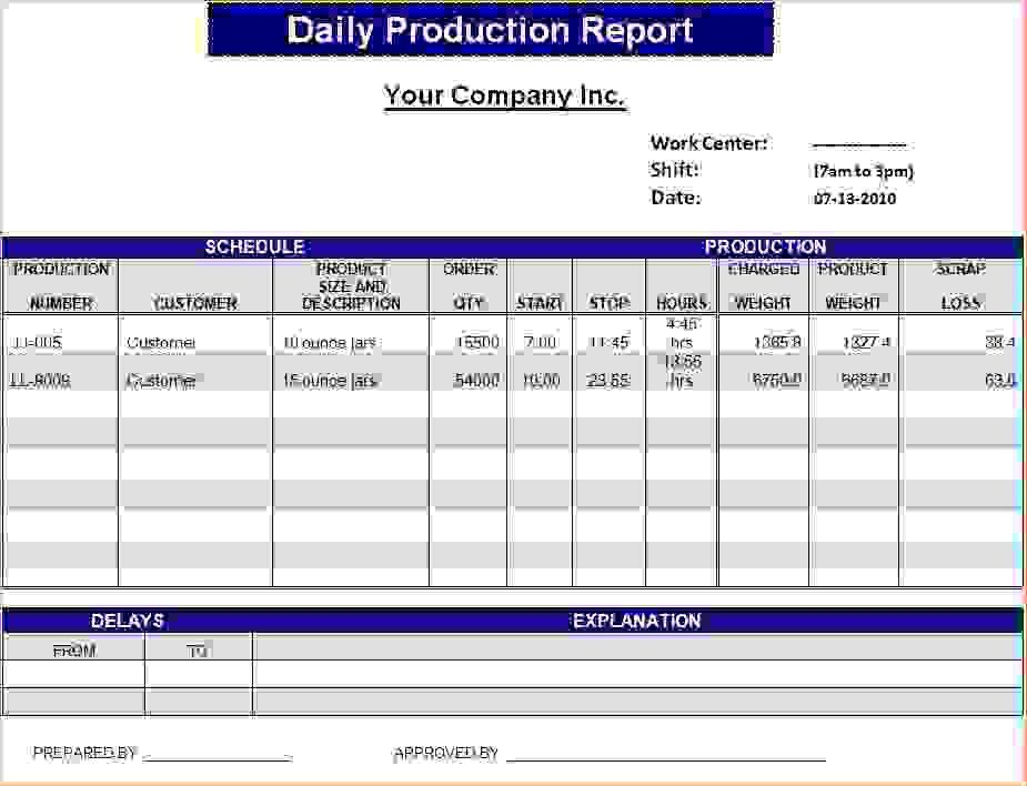 6+ daily status report templateReport Template Document | report ...