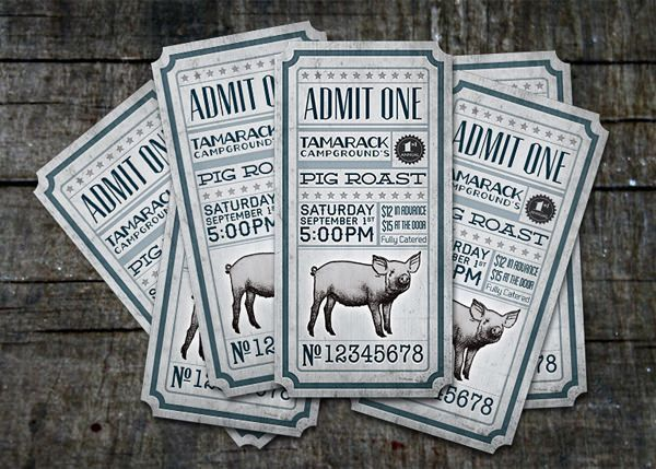 30 Ticket Design Examples for Your Inspiration