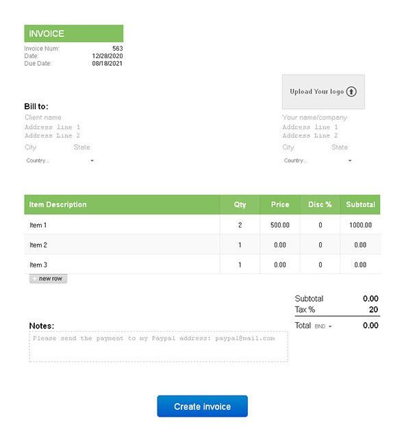 8 Helpful Tools That Will Let You Create Invoices | Web & Graphic ...