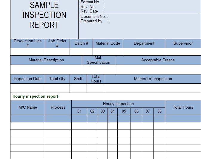Get Inspection Report Template Sample - Microsoft Project ...