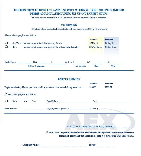 Sample Service Order Template - 6 Free Word, Excel PDF Documents ...