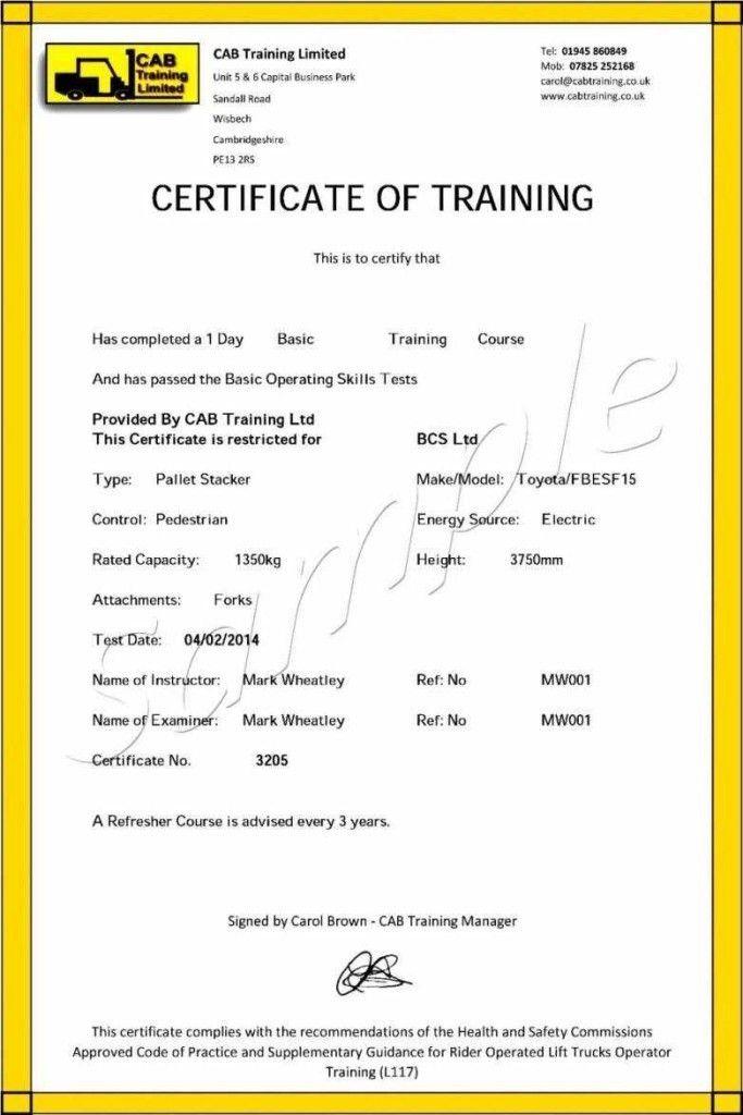 Training Course Certificate Template - Contegri.com