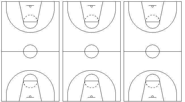 Blank Basketball Court Template. basketball court layout template ...