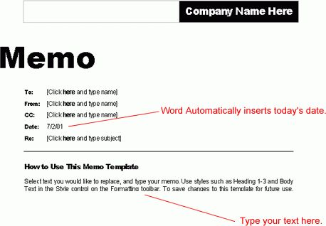 Word 2000: Using Templates - Full Page