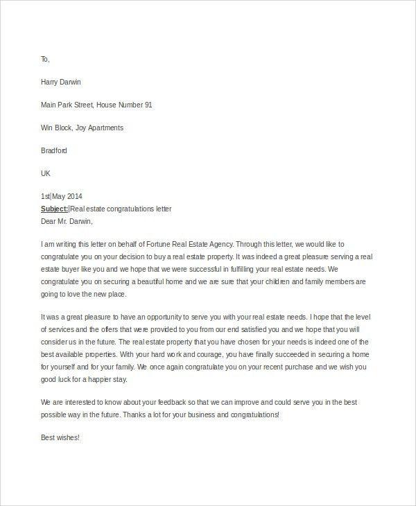 Sample Real Estate Offer Letter - 6+ Documents in PDF, Word