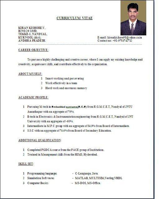 Download Standard Resume Format | haadyaooverbayresort.com