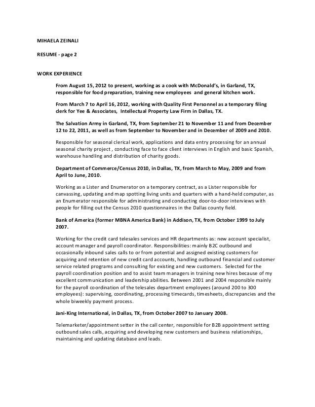 MIHAELA ZEINALI resume August 2015