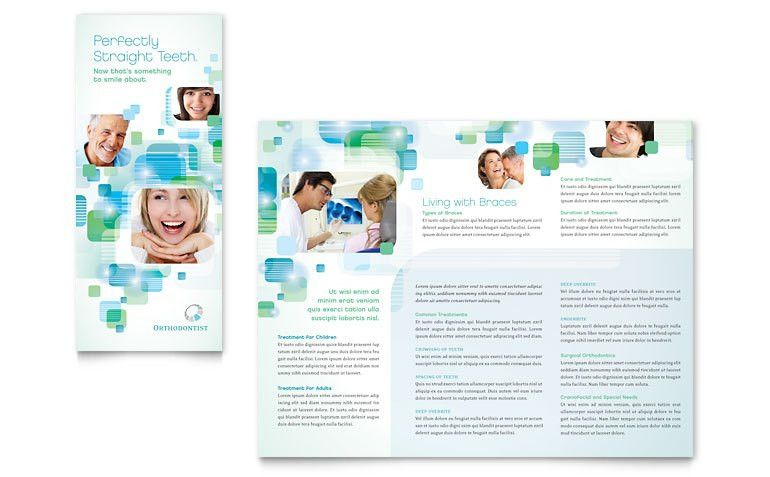 Orthodontist Tri Fold Brochure Template - Word & Publisher