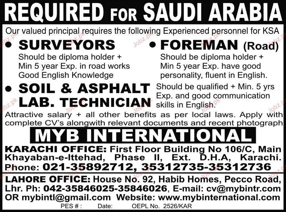 Surveyor, Foreman, Soil & Asphalt lab Tech Job Opportunity 2017 ...