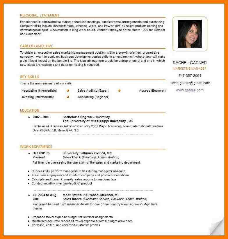 5+ attractive resume samples | park-attendant
