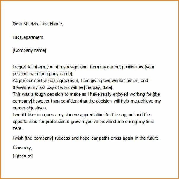 7+ 2 weeks notice template word - Basic Job Appication Letter