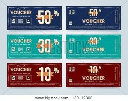Vector voucher template. Voucher design. Discount coupon. Special ...