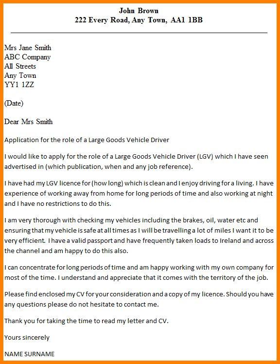 5+ application letter fr a driver | cashier resumes