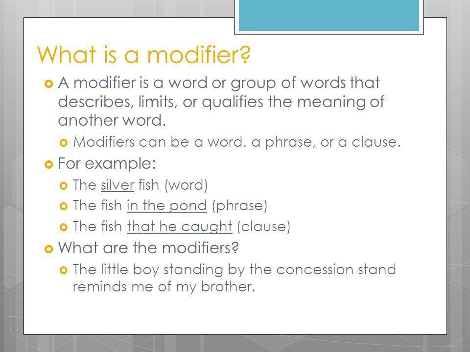 Misplaced & Dangling Modifiers - ppt download