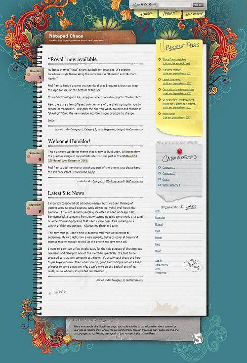 41 Great Looking Free WordPress Themes - Hongkiat