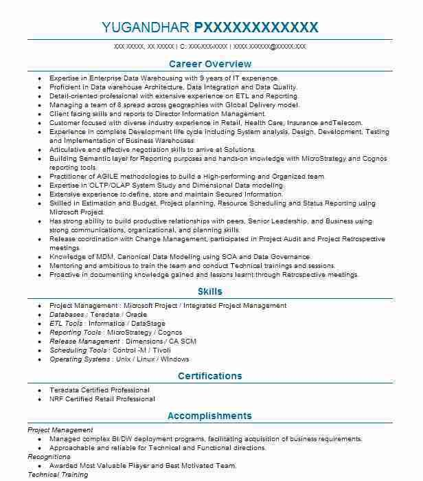 Best Technical Project Manager Resume Example | LiveCareer