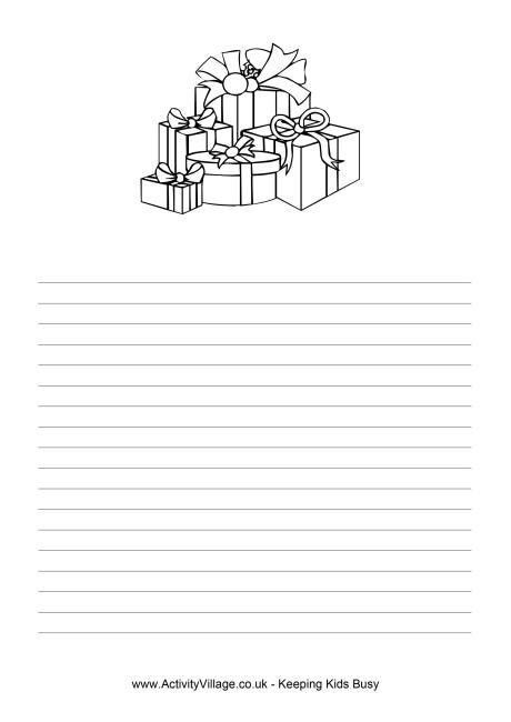 Christmas Gifts Writing Paper