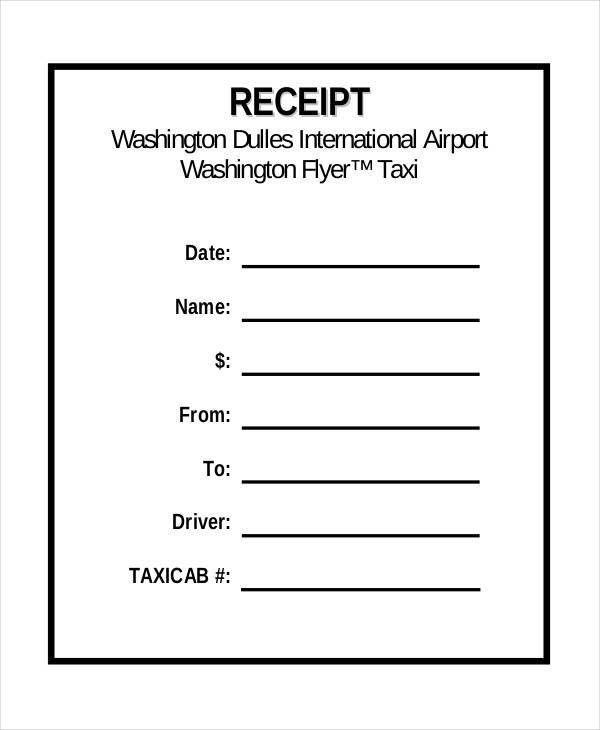 5+ Sample Taxi Receipt Templates - Free Sample, Example Format ...