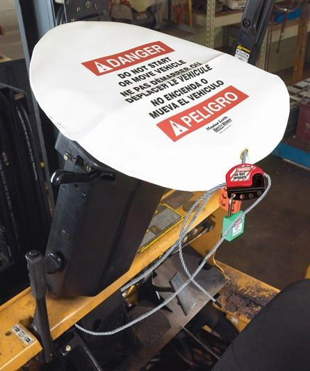 Forklift Lockout Tagout Device | Forklift Maintenance Safety