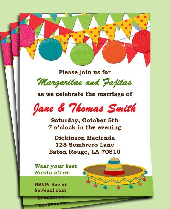 Fiesta Party Invitation Printable Birthday by ThatPartyChick ...