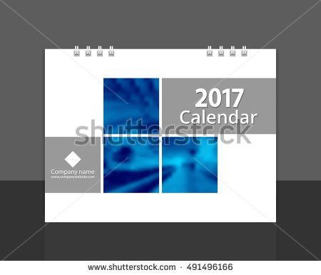 Desk Calendar 2017 Cover Design Layout Stock Vector 491496166 ...