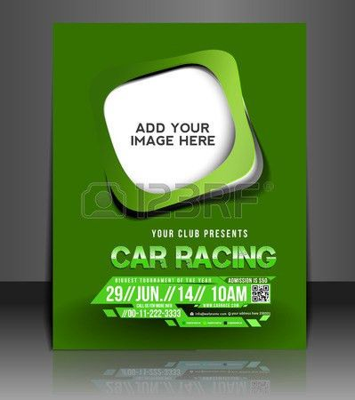 Car Competition Flyer & Poster Template Design Royalty Free ...