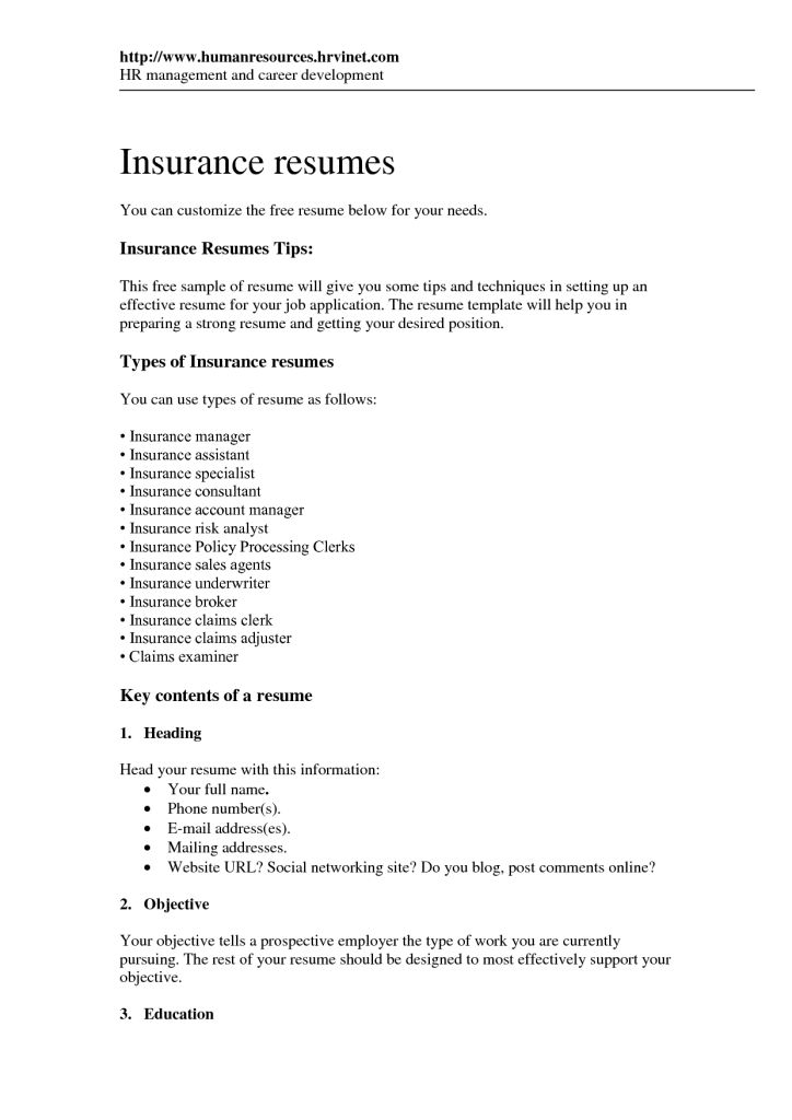 2016 Insurance Clerk Resume Sample | RecentResumes.com