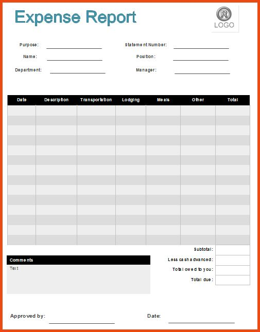 Expense Report Forms.expense Report Form Example.png - Sponsorship ...
