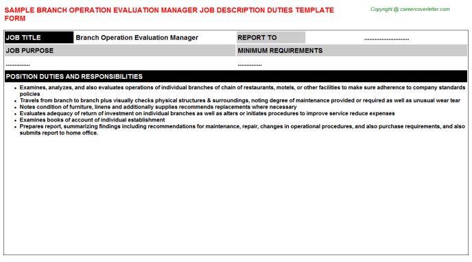 Branch Accountant Job Descriptions