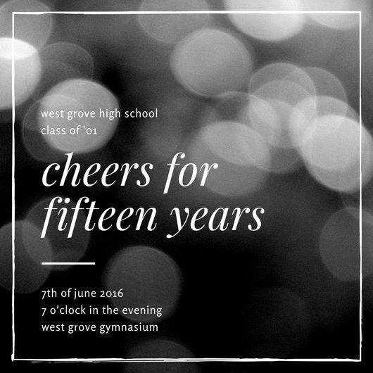 Elegant High School Reunion Invitation - Templates by Canva