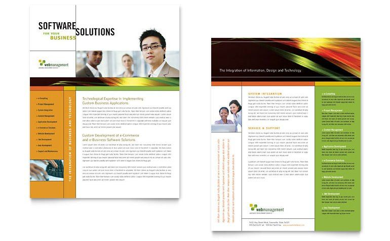 Internet Software Datasheet Template - Word & Publisher