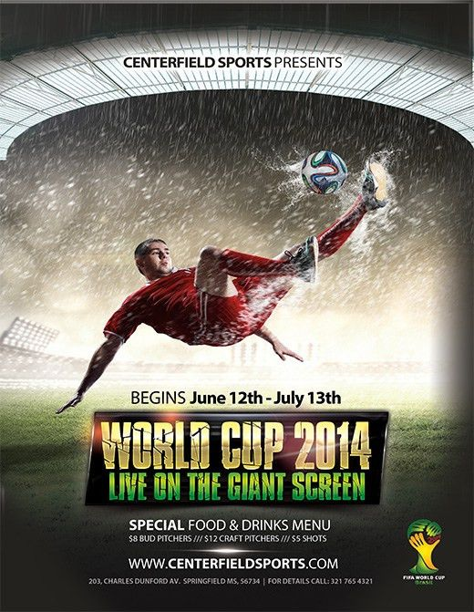 Free 2014 World Cup Templates - Make Your Own Postcard or Flyers ...
