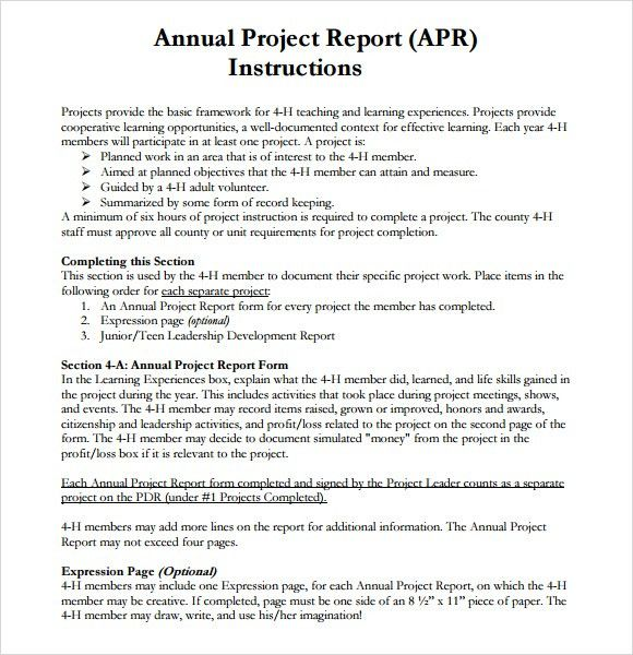 Project Report Template. Project Report Template 5417 Top 5 ...
