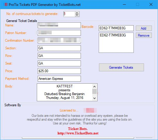 ProTix PDF Tickets Generator - TicketBots.net - Ticket Spinner and ...