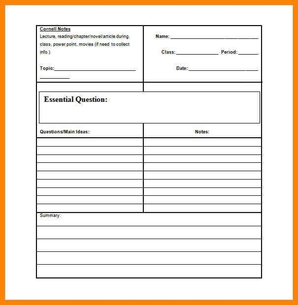 Cornell Note Template In Word. Cornell-Notetaking-Styem Jpg This ...