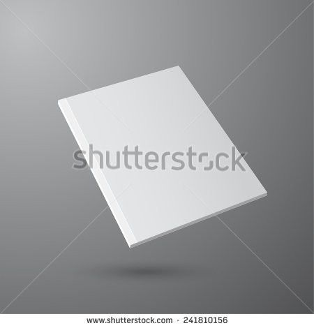 White Stationery Blank Trifold Paper Brochure Stock Vector ...