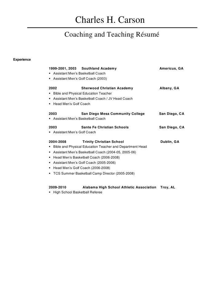 basketball coach resume objective basketball coach resume and po0 ...