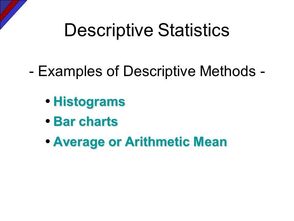 Statistical Methods Statistical Methods Descriptive Inferential ...